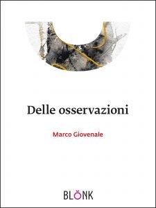 """copertina del libro di Marco Giovenale """"Delle Osservazioni"""""""