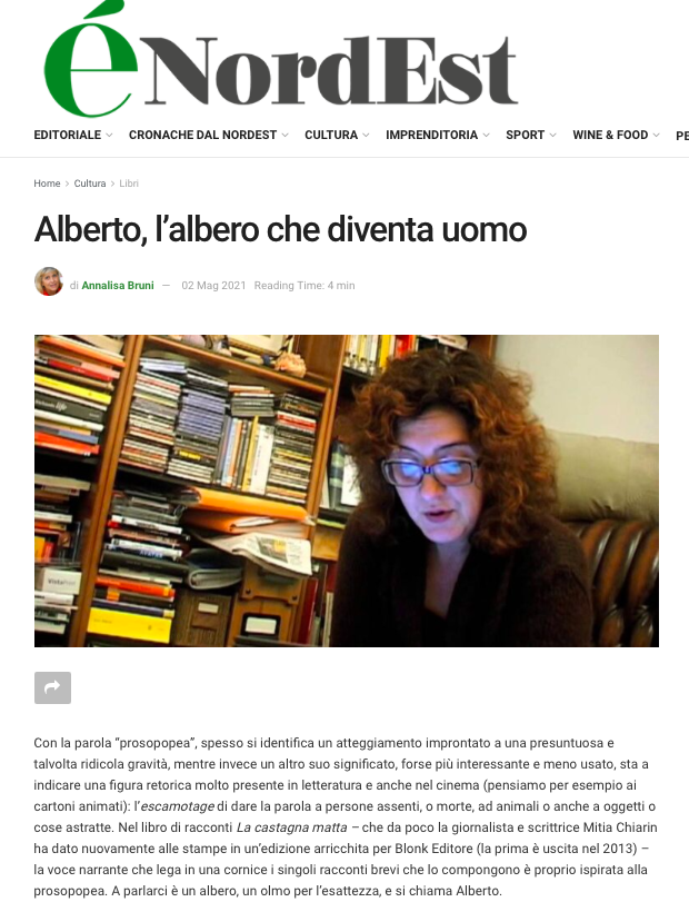 """articolo preso da éNordEst con la recensione di """"La Castagna Matta"""""""